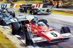Spa F1 GP • Jackie Ickx leading the pack.