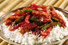Aiguillettes de poulet aux poivrons cookeo,un délicieux plat de poulet pour votre plat de dîner, servez avec du riz ou autres, voila la recette la plus facile pour le cuisiner. testez ce délicieux plat avec le cookeo et cette recette.
