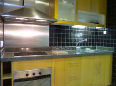 Modern Yellow Kitchen Cabinets #06 (Kitchen-Design-Ideas.org)