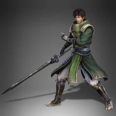 m Ranger Asian Faciton Sword Xu shu's new design from dynasty warriors 9 Fantasy Warrior, Fantasy Male, Boy Character, Character Concept, Character Design, Concept Art, Sengoku Musou, Sengoku Basara, Dynasty Warriors
