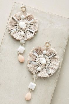 Anthropologie Tesoro Drop Earrings amazing gorgeous pink outfit wear fashion new trendy