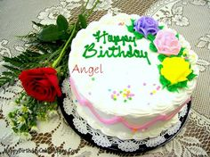 Write Name on Rose Birthday Cake Image  Happy Birthday Cake Images