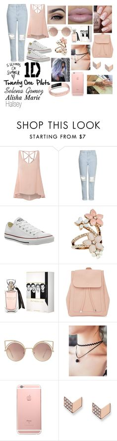 """""""What I would wear"""" by happinesspeaceandlove ❤ liked on Polyvore featuring Glamorous, Topshop, Converse, Accessorize, New Look, MANGO, FOSSIL and Fitbit"""