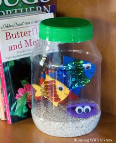 Make a fun jar aquarium using craft foam, sequins, and a plastic Mayo jar. Fun to make with friends!The Effective Pictures We Offer You About Fishes food A quality picture can tell you many things. You can find the most beautiful pictures Creative Activities For Kids, Projects For Kids, Diy For Kids, Crafts For Kids, Elderly Activities, Dementia Activities, Indoor Activities, Physical Activities, Physical Education