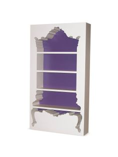 POLaRT InsideOut Bookcase InsideOut Bookcase: Contemporary bookcase with an inversed negative space design Measurements: W x D x H Material: Polyurethane, rebar Care: Wipe with a damp cloth Brand: POLaRT Origin: Imported Pantone, Comfy Cozy Home, Hipster Home, Contemporary Bookcase, Home Decor Accessories, Decoration, Home Furniture, Gray Furniture, Furniture Showroom
