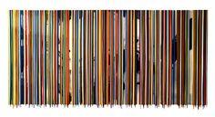 "Francisco Valverde, Sinamatic, pigments and epoxic resin on panel, 40"" x 84"""