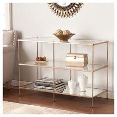Benton Console Table - Metallic gold - Southern Enterprise : Target $224