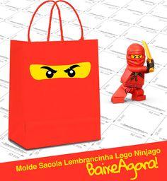 Molde Sacolinha Lego Ninjago