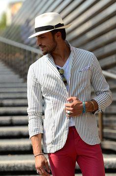 Tendencias hombre primavera verano 2013 sombreros panama hat fedora street style. Mariano di Vaio.❤️❤️❤️❤️❤️❤️❤️