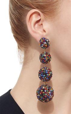 M'O Exclusive Les Bonbons Tutti Earrings by Rebecca de Jewelry Art, Beaded Jewelry, Unique Jewelry, Handmade Jewelry, Jewelry Design, Bohemian Accessories, Jewelry Accessories, Bridal Earrings, Women's Earrings