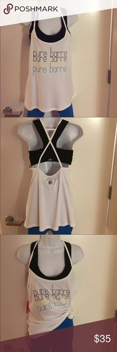 """Pure Barre by Splits 59 Helene Tank Pure Barre by Splits 59 Helene Tank. New with tags. Signature """"circle P"""" reflective logo on back. Bra not included, leggings sold separately. pure barre Tops Tank Tops"""