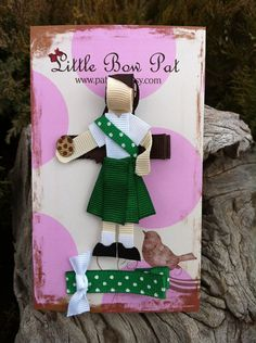 Would You Like to Buy Some Cookies. Girl Scout Ribbon by Girl Scout Swap, Girl Scout Leader, Girl Scout Troop, Brownie Girl Scouts, Girl Scout Cookies, Ribbon Art, Ribbon Crafts, Ribbon Bows, Diy Crafts