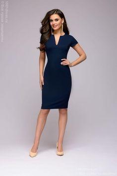 Sheath dress dark blue 1001DRESS