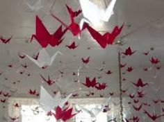 Image result for red and white origami birds
