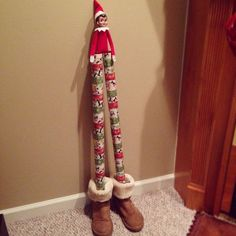 Stilts   Clever Elf on the Shelf Ideas Funny