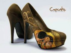 Klimt! I love this painting and I love shoes a match made
