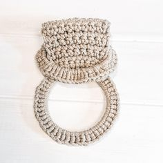Herbal Tea Towel Ring Crochet pattern by The Roving Nomad - Best Picture For anello disney For Your Taste You are looking for something, and it is going to t - Crochet Towel Holders, Crochet Towel Topper, Crochet Hooks, Free Crochet, Knit Crochet, Arm Knitting, Knitting Patterns, Deco Boheme, Towel Rings