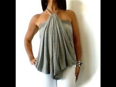 Hipknoties How to Make A Long a Short Bubble Halter Top with Necklace