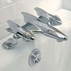 Futuristic Plane Faucets - The Belle Air Bath Filler Reflects Homeowners Hobbies and Passions