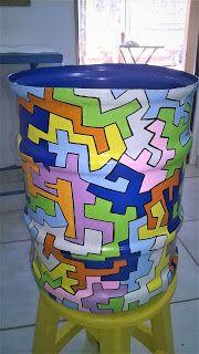 Pintura em galão de água