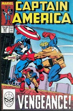 Captain America # 347 by Ron Frenz & Al Milgrom