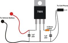 Simple Cellphone  Circuit is a device used to put energy into a secondary cell or rechargeable battery by forcing an electric current through it. Electronics Projects, Electrical Projects, Electronics Components, Electronic Circuit Design, Electronic Engineering, Electrical Engineering, Arduino, Electrical Circuit Diagram, Electronic Schematics