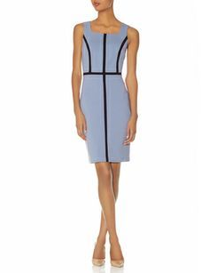 Contrast Bands Sheath Dress from THELIMITED.com #TheLimited #LTDPetites