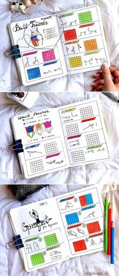 goals bullet journal layout 14 Genius Bullet Journal Ideas For A Better You And A Happier Life - Our Mindful Life Fitness Tracker, Journal Pages, Journal Ideas, Journal Layout, Genius Ideas, 30 Day Yoga, Home Exercise Program, Weight Loss Journal, Bullet Journal Weight Loss Tracker