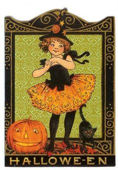 Vintage Halloween vintage halloween These are fantastic. Retro Halloween, Vintage Halloween Cards, Vintage Halloween Decorations, Halloween Prints, Halloween Pictures, Halloween Boo, Holidays Halloween, Happy Halloween, Vintage Cards