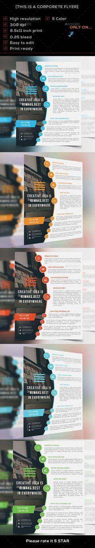 Corporate Flyer Template PSD #design Download: http://graphicriver.net/item/corporate-flyer/14328706?ref=ksioks