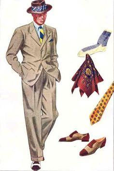 vintage men suit coat fashion illustration - Google Search