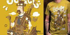 """Steampunk Bike"" t-shirt design by bykai2"