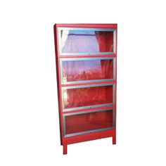Four Tier Lawyer Bookcase Red