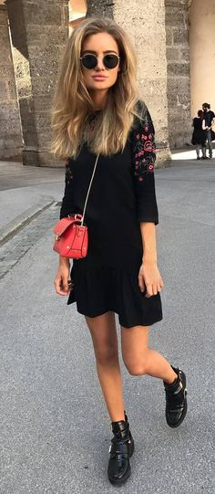 amazing+outfit+dress+++bag+++boots