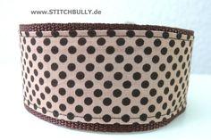 Zugstop Halsband Fliegenpilz Punkte 5 cm breit von stitchbully.de macht buntes für Hunde auf DaWanda.com
