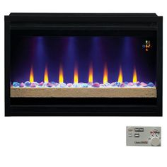 Classic Flame Contemporary Built-In Electric Fireplace Insert