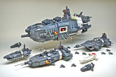 U.E.F. Battle Group - Microscale LEGO spaceships by https://www.flickr.com/photos/dunechaser/