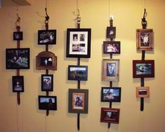 My belted picture hangers. A good use for all those old leather belts.