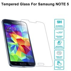 9H best Screen Protector For Samsung Note 5  2.5D Anti-Explosion Tempered Glass for Samsung Note 5 Note5 N920