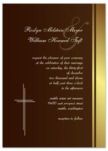 catholic wedding invitation ubi caritas et amor catholic wedding, Wedding invitations
