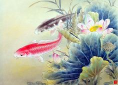 CHINESE GONGBI PAINTING uses watercolor and ink to create delicate images - look at the shading in the plants!  Confucius Institute at Western Michigan University | 西密歇根大学孔子学院