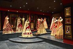 Sabyasachi launches his first flagship store at Delhi - Life 360 degrees Indian Interior Design, Showroom Interior Design, Boutique Interior Design, Clothing Boutique Interior, Boutique Decor, Boutique Ideas, Indiana, Sari Shop, Desi Wedding Dresses