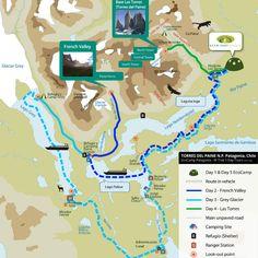 W trek 5 day, Torres del Paine, Patagonia tours, Hiking in Chile » Cascada Expediciones