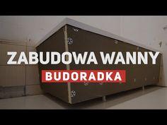 Zabudowa prostokątnej wanny płytą budowlaną - YouTube Youtube, Youtubers, Youtube Movies