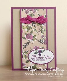 Paper Daisy Crafting: Customer Thank You cards with Share What You Love