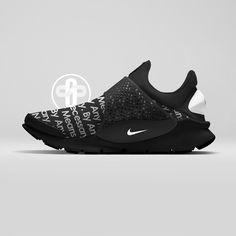 Supreme x Nike Sock Dart Black
