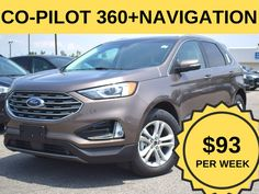 """Stock # 07.07 - 99160  Cash Price: $33,988.00  MSRP: $42,599.00  $0 Down, Evasive Steering Assist, Adaptive Cruise with Lane Control, Lane Keeping System, this Model Comes with all the Safety Related Technology at no additional cost. Powerful 2.0L Ecoboost, 8 Speed Auto Transmission, Power Liftgate, 18"""" Painted Alumn wheels, and more. Lease it for $93/week.  *Cash price and weekly price mentioned in this ad includes $1,000 Conquest/Loyalty Bonus. To quality for this, customer needs to trade… Ford Employee, Car Deals, Ford Edge, 2019 Ford, Ontario, Pilot, Cruise, Safety, Ads"""