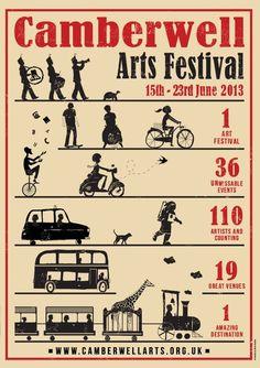 Camberwell Arts Festival poster 2013
