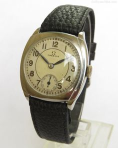 Antique and Vintage Watches, Gents Omega Wrist Watch. Old Watches, Vintage Watches For Men, Wrist Watches, Vintage Omega, Watch Companies, 1930s, Mens Fashion, Dress Codes, Antiques