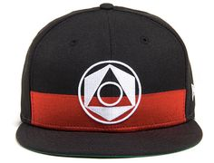 Geo Umbra 59Fifty Fitted Cap by BLACK SCALE x NEW ERA   BLACK SCALE's Summer 2015 collection is here. Included in their seaonal mix of apparel and accessories is a new headwear style. The Geo Umbra #59Fifty fitted #cap is Black, White and red all over. This style features a geometric symbol on the front panels with an oversized horizontal underneath. An inverted American flag appears on the back in tonal embroidery. #BLACKSCALE #NEWERA